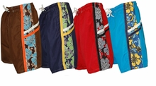 Boys Swim Trunks Size 4 - 7   SIDE STRIPE - Choose Color