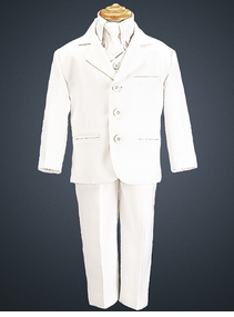 Boys White Suit - Perfect for Communion or Weddings