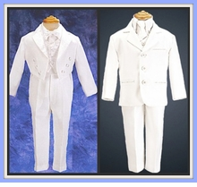 Boys White Suits & White Tuxedos