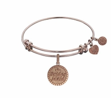 Bridesmaid Gift Angelica Bridesmaid Bangle Bracelet Rose Gold SOLD OUT
