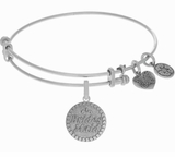 Bridesmaid Gift Angelica Bridesmaid Bangle Bracelet Silver