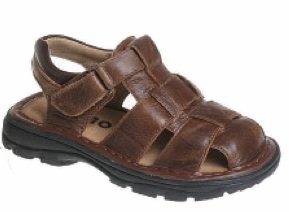 BROWN Boys Sandals - Brown Leather LAST ONE