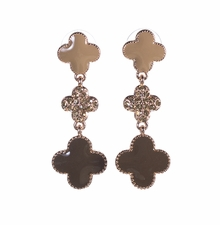 Brown Clover Dangle Earrings