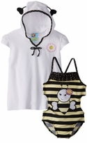Bumblebee Infant or Girls Swimsuit and Robe