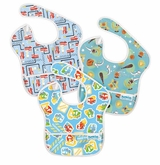 Bumkins 3 Pack Waterproof SuperBib, Boy Set