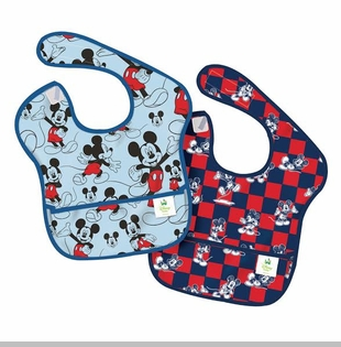 Bumkins Disney Baby Waterproof Super Bib, Mickey Checkered, 6-24 Months, 2 Count sold out