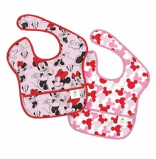 Bumkins Disney Baby Waterproof Super Bib, Minnie Icon, sold out