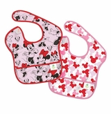 Bumkins Disney Baby Waterproof Super Bib, Minnie Icon, 6-24 Months, 2 Count