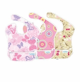 Bumkins S3-G6 Pink Paisley Girl Assortment Superbib Bib 3-pack - Bumkins - SOLD OUT -