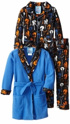 Bunz Kids Little Boys' 3pc Guitar Print Bathrobe and Pajama Set