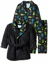 Bunz Kids Little Boys Robot Robe Pajamas Set