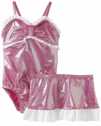 Bunz Kids Little Girls' Glitter Glam Girl One Piece Swimsuit
