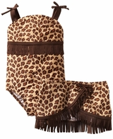 Bunz Kids Little Girls' Leopard Swimsuit
