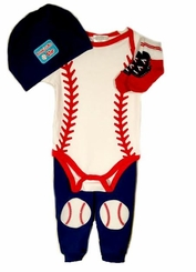 Buster Brown Baby Boys 4pc Baseball Pant Set