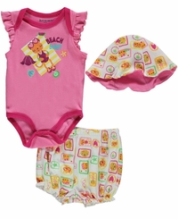 "Buster Brown Baby Girls' ""Beach Baby"" 3-Piece Outfit"