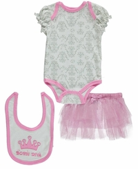 "Buster Brown Baby Girls' ""Born Diva"" 3-Piece Outfit"