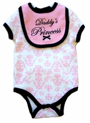 "Buster Brown Baby Girls ""Daddy Princess"" Bodysuit Set"