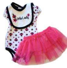 "Buster Brown Baby Girls ""Little Lady"" Bodysuit Set"