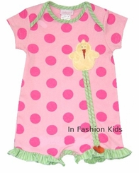 Cach Cach Twitter Dots - Pink Ducky - 9 month FINAL SALE