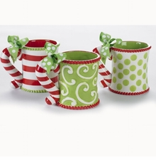 Candy Cane Handle Mugs - Choose Design