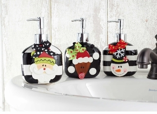 Ceramic Holiday Soap Pumps -  CHOOSE Style