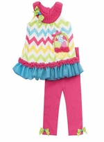 Chevron Easter Basket Applique Easter Legging Set