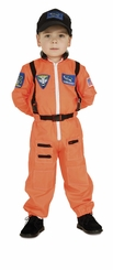 Child Astronaut Costume (Orange)