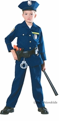 Child Policeman Costume - Deluxe