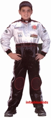 Child Race Car Driver Costume - With Hat