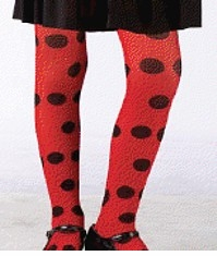 Child Red and Block Dot Tights