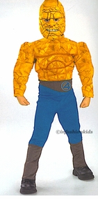 Child Superhero Costumes -The Thing - Deluxe Muscle Chest Costume