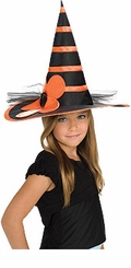 Child WITCH Hat  -  Orange / Black