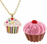 Children's Necklace - Cupcake Necklace with Cupcake Gift Box
