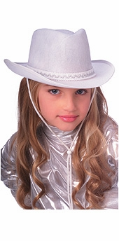 Childs Cowboy Hat - White - OUT OF STOCK