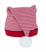 Christmas Elf Red White Stripe Knit Hat