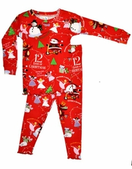 Christmas Pajamas - 12 Days of Christmas Girls With BOOK