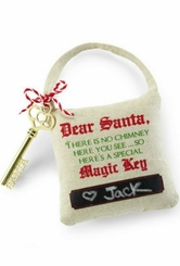 Christmas Santa Magic Apartment Key with Pillow
