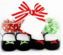 Christmas Socks - Mary Jane Gift Set -2  PAIRS