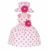 Cinderella Couture Baby Girls Pink Polka Dot Party Dress - SOLD OUT