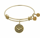 Claddagh Bracelet - Angelica Bracelet : Antique Gold