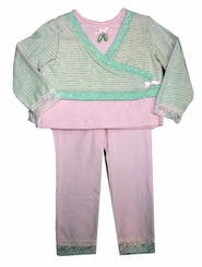 CLEARANCE - Vitamins Cotton Knit Striped Pant Set  12 month - 4T
