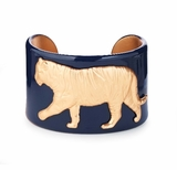 College Days Mascot Medallion Cuff Navy Tiger : Women's Fashion Braclets
