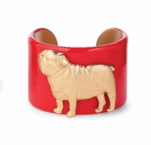 College Days Mascot Medallion Cuff Red Bulldog : Women's Fashion Braclets