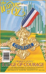 Cowardly Lion - Badge Of Courage Pin - Wizard Of Oz