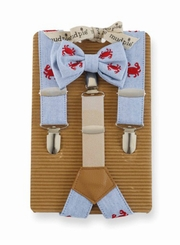 Crab Bow Tie & Suspender Set by Mud Pie - SOLD OUT