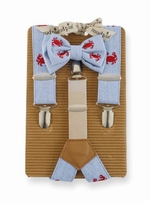 Crab Bow Tie & Suspender Set by Mud Pie