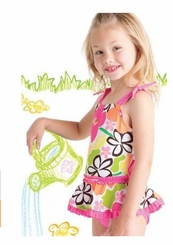 Crayon Garden One Piece Swimsuit 6X FINAL SALE
