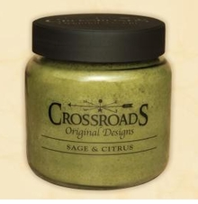 Crossroads Candles - SAGE and CITRUS  Jar Candle 16 OZ.