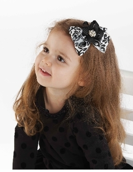Damask Bow Hair Clip - SOLD OUT