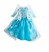 Deluxe Elsa Dress - Inspired Elsa Frozen Costume
